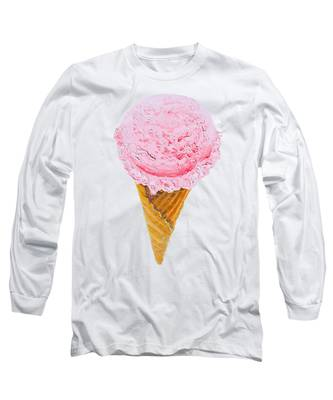 Strawberry Ice Cream Cone Long Sleeve T-Shirt