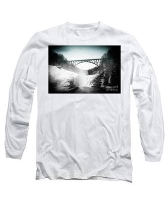 Upper Falls At Letchworth State Park Long Sleeve T-Shirt