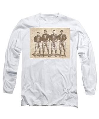 Vintage Football Heroes Long Sleeve T-Shirt