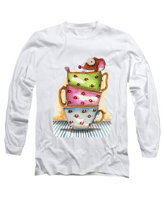 Tea Cup Long Sleeve T-Shirts