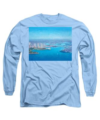 Sydney Harbour And The Opera House Aerial View  Long Sleeve T-Shirt