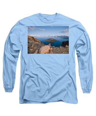 Crater Lake In The Evening Long Sleeve T-Shirt