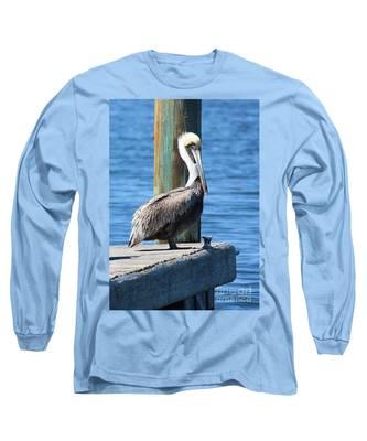 Posing Pelican Long Sleeve T-Shirt