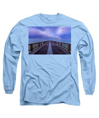 Sunrise At The Panama City Beach Pier Long Sleeve T-Shirt