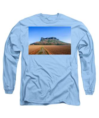 The Lilienstein On An Autumn Morning Long Sleeve T-Shirt