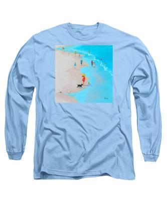 Beach Painting - Beach Day - By Jan Matson Long Sleeve T-Shirt