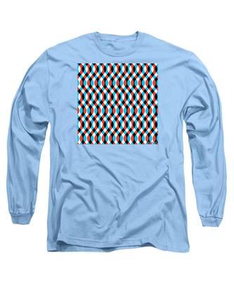 Brain Waves - Blue Long Sleeve T-Shirt