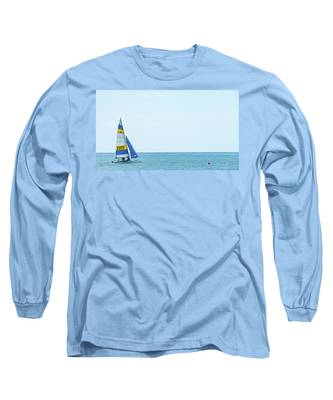 Colorful Catamaran 3 Delray Beach Florida Long Sleeve T-Shirt
