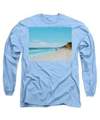 Ditch Plains Beach Montauk Hamptons Ny Long Sleeve T-Shirt
