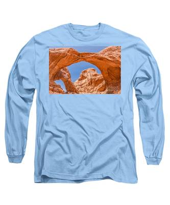 Double Arch At Arches National Park Long Sleeve T-Shirt