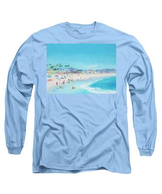 Pacific Beach In San Diego Long Sleeve T-Shirt