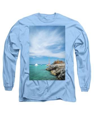 Coastline Sailing In Montego Bay Long Sleeve T-Shirt