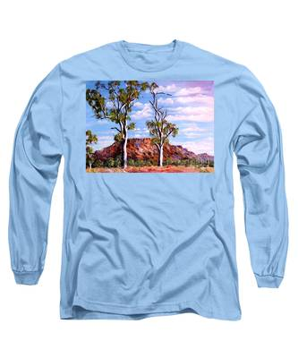 Twin Ghost Gums Of Central Australia Long Sleeve T-Shirt