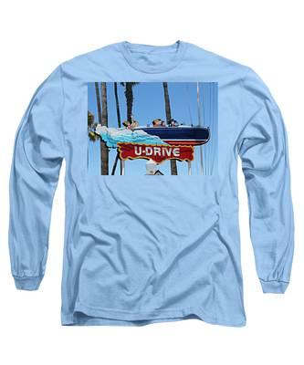 U-drive Boat Sign Long Sleeve T-Shirt