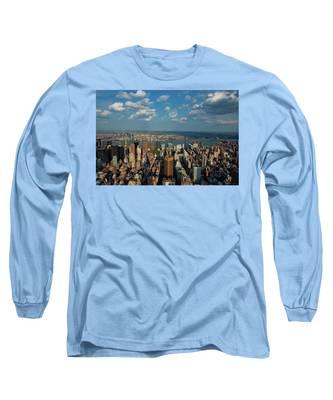 New York Skyline Empire State Long Sleeve T-Shirt