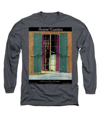 A House And Garden Cover Of A Christmas Long Sleeve T-Shirt