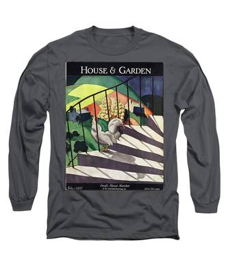 A House And Garden Cover Of A Rooster Long Sleeve T-Shirt
