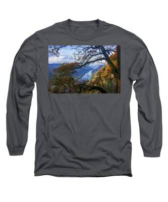 A Window To The Elbe In The Saxon Switzerland Long Sleeve T-Shirt