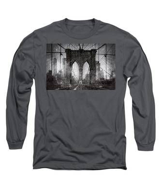Brooklyn Bridge Snow Day Long Sleeve T-Shirt