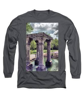 Columns In The Water Long Sleeve T-Shirt