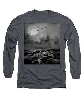 First Snowfall Geese Migrating Long Sleeve T-Shirt