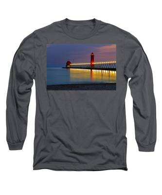 Grand Haven South Pier Lighthouse Long Sleeve T-Shirt