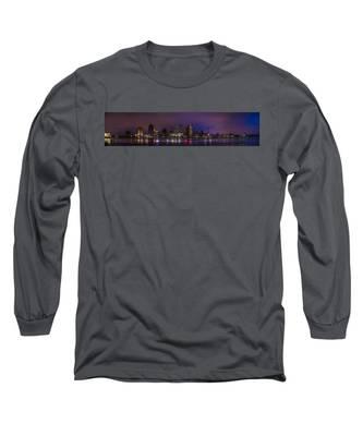 New Orleans Skyline Long Sleeve T-Shirt