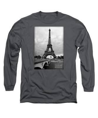 Summer Storm Over The Eiffel Tower Long Sleeve T-Shirt
