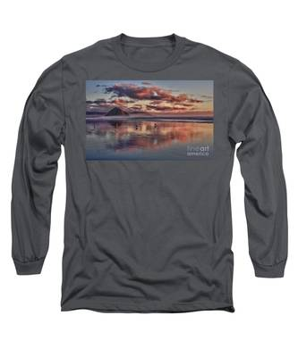 Sunset At Morro Strand Long Sleeve T-Shirt