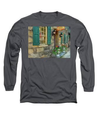 A Victorian Tea Room Long Sleeve T-Shirt