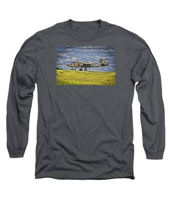B-25 Landing Akron/canton Ohio Long Sleeve T-Shirt
