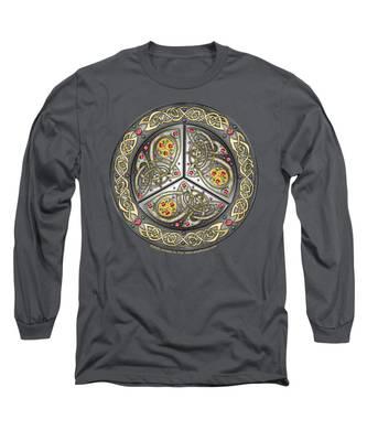 Bejeweled Celtic Shield Long Sleeve T-Shirt