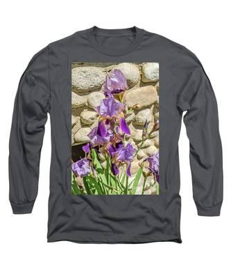Blooming Purple Iris Long Sleeve T-Shirt