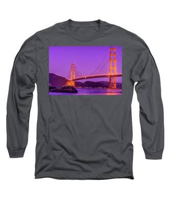 Golden Gate Bridge In The Blue Hour Long Sleeve T-Shirt