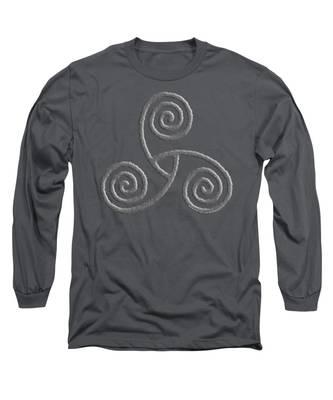 Celtic Triple Spiral Long Sleeve T-Shirt