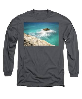 Cliff Views In Negril Long Sleeve T-Shirt
