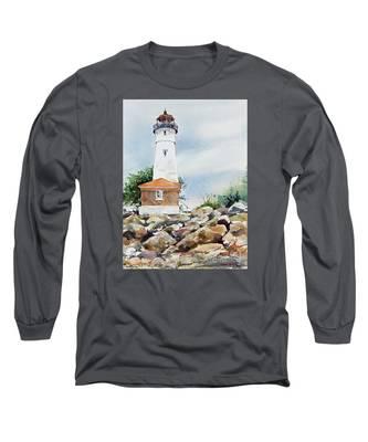 Crisp Lighthouse Long Sleeve T-Shirt