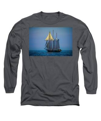Denis Sullivan - Three Masted Schooner Long Sleeve T-Shirt