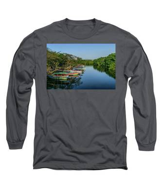 Boats By The River Long Sleeve T-Shirt