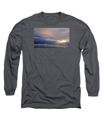 Dramatic Wave Sunrise Long Sleeve T-Shirt