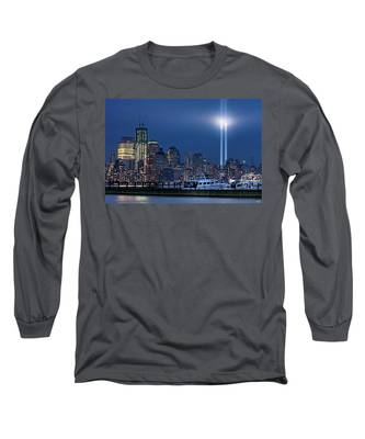 Ground Zero Tribute Lights And The Freedom Tower Long Sleeve T-Shirt
