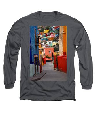 Long Sleeve T-Shirt featuring the photograph Guanajuato Lane by Skip Hunt