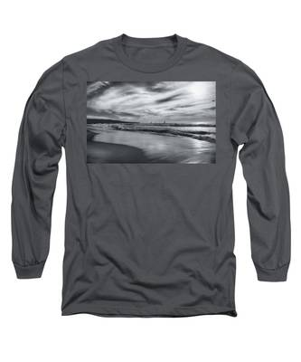 Hermosa Evening Black And White Long Sleeve T-Shirt