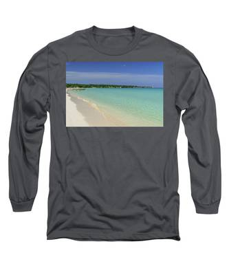 Seven Mile Beach, Negril Long Sleeve T-Shirt