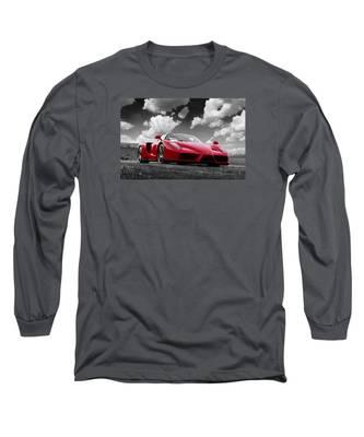 Just Red 1 2002 Enzo Ferrari Long Sleeve T-Shirt