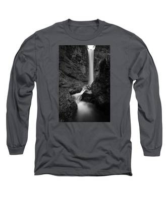 Leuenfall In Black And White Long Sleeve T-Shirt