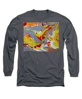 Long Sleeve T-Shirt featuring the painting Liquid Sun by Vicki Winchester