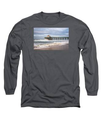 Manhattan Pier With Two Tankers Long Sleeve T-Shirt