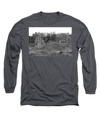 Mill At Clinton Among The Reeds Long Sleeve T-Shirt