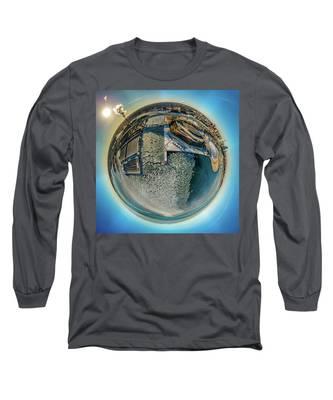 Milwaukee Pierhead Light Little Planet Long Sleeve T-Shirt